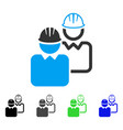 industrial users flat icon vector image
