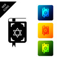 jewish torah book icon on white background the vector image vector image