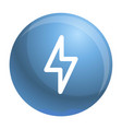 light power icon outline style vector image vector image