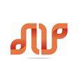 Logo Letter Infinity Alphabet Lettering N Design vector image vector image