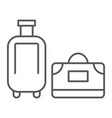 luggage thin line icon travel and baggage vector image vector image