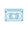 magnetic tape linear icon concept magnetic tape vector image