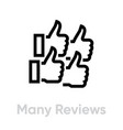 many reviews icon editable outline vector image