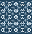 maritime mood seamless nautical pattern with vector image