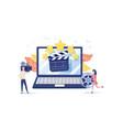 movie festival online cinema vector image vector image