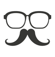 mustache and glasses hipster style vector image vector image