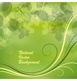 Nature background with green leaves vector image