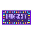 night club emblem vector image