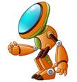 orange robot cartoon isolated on white background vector image vector image