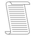 paper contour sheet vector image