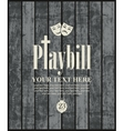 playbill with theatrical masks vector image vector image