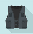pocket vest icon flat style vector image