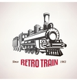 Retro train vintage symbol emblem label