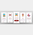 scan reading onboarding icons set vector image vector image