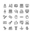 school and education line icons 4 vector image vector image