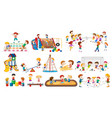 set children playing vector image vector image
