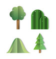 set of paper art icons vector image