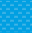 solar wheat pattern seamless blue vector image vector image