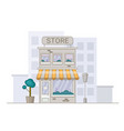 store in cartoon style shope facade vector image vector image