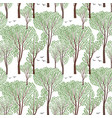 summer nature seamless pattern summer tree forest vector image