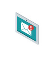 tablet computer email correspondence postal mail vector image