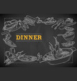 template different types dinner item for vector image vector image