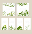template label with hand draw wild flowers vector image