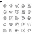 thin line shopping malls retail icons vector image