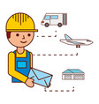 warehouse logistic delivery vector image vector image