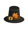 woman wearing pilgrim hat and lipstick autumn fox vector image vector image