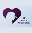 women day greeting card background vector image vector image