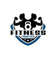 women fitness shield logo vector image vector image