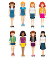 Women with no faces vector image vector image