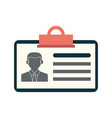 work id card icon image vector image vector image