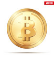 gold coin with bitcoin sign vector image
