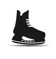 icon set of mens hockey skates with shadow vector image