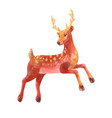 little deer watercolor vector image