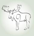 Moose in minimal line style vector image