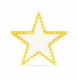 retro gold star vintage frame with lights vector image