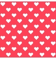 White polka dots hearts on red background vector image
