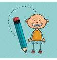 child cartoon pencil icon vector image