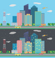 day and night city vector image
