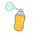 graffiti spray can in cartoon style isolated on vector image