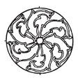 arabian circular panel is a sunken decoration on vector image vector image