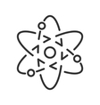 Atom model line icon vector image vector image