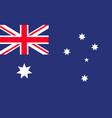 australia flag australian cross with star vector image vector image