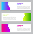 banner design for businessmodern designte vector image
