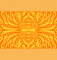 beautiful art with orange seamless fiery pattern vector image vector image