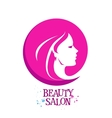 beautiful woman female logo design vector image vector image