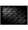 Black Vintage Wallpaper with Abstract Pattern vector image vector image